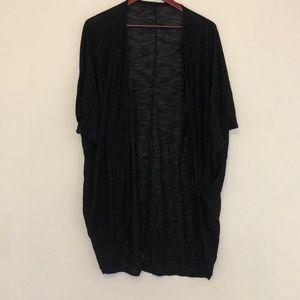 Short sleeve scoop cardigan